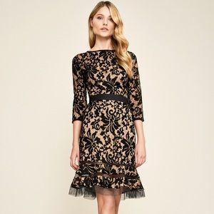 Tadashi shoji black lace midi dress never worn.